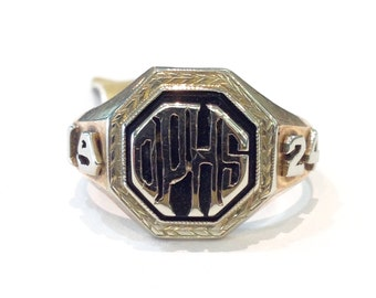 Vintage 10kt 1924 Class Ring