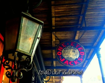 New Orleans Art, One Eyed Jacks New Orleans Photography, New Orleans Bars, Architecture, French Quarter Art, French Quarter Photography, NOL