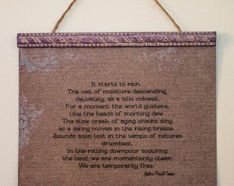 Poetry, Wall Art, Home Decor