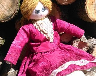 Handmade Vintage Russian Doll