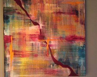 "Acrylic Painting ""Dawn"""
