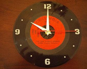 Simon and Garfunkel Recycled Record Clock