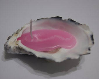 Oyster Shell Candle - Pink