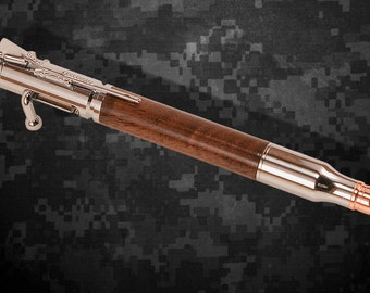 Handcrafted Ballpoint Pen - Bolt Action 30 Caliber