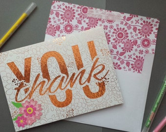 Personalized, Handmade Thank You Card