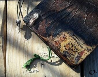 Book of Gargoyle-handmade wooden journal,Medieval mythology,refillable journal,wooden journal,small wooden journal,wooden book,bookbinding