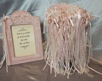 Wedding Wands with Sign
