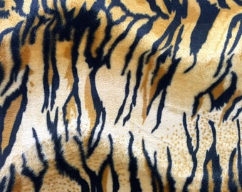 Velboa S-Wave Fabric Prints By The Yard - Tiger Gold (W2)