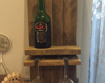 Wine and glasses holder