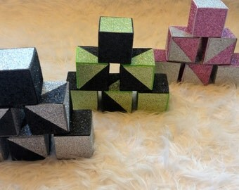 Glitter Blocks - set of 6