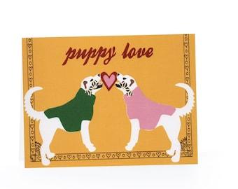 Puppy Love Blank Card