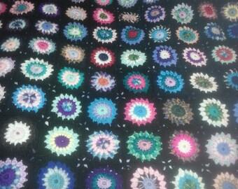 Family heirloom hand made crochet starburst blanket