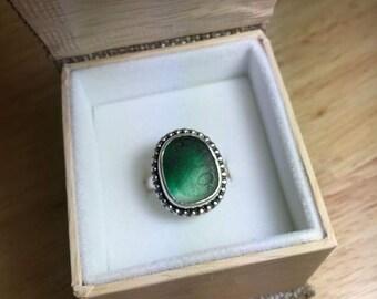 Emerald English Multi Sea Glass Ring
