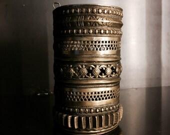 Brass Gypsy Cuff Bangle