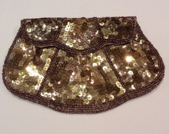 Gold 1920s sequin purse 1930s wedding