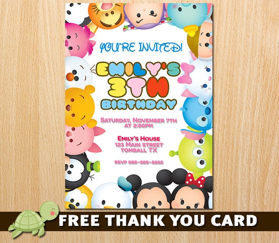 Tsum Invitation Birthday