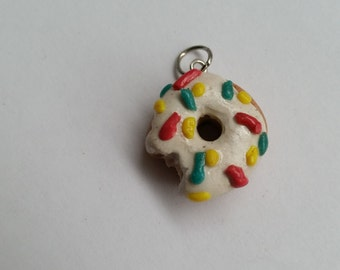 Donut with bite charm