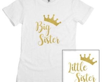 Big Sister / Little Sister Shirts T-Shirt & Onesie Combo