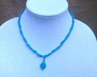 Twisted Aqua Necklace