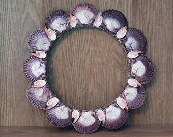 Beach Decor, Beach Decor Wreath,  Summer Wreath, Front Door Wreath, Wedding Gift Wreath, Shell Wreath, Seashell Wreath, Scallop Shell Wreath