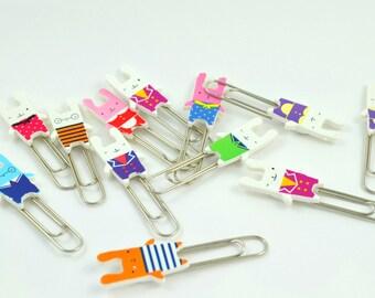 Cute Kawaii Bunny Paper Clip - set of 2