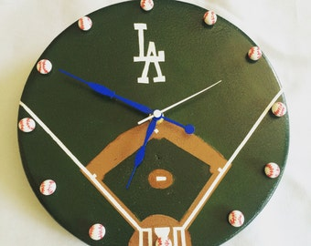 Los Angeles Dodgers themed clock- Made to order