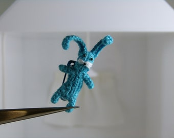 A tiny rabbit brooch