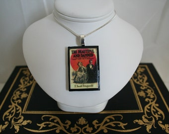 "Handmade Pendant: ""The Beautiful and The Damned"" by F. Scott Fitzgerald"
