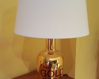 Lamp made by hand foot bottle Golden