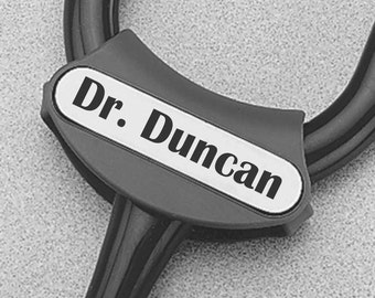 Personalized Littmann Stethoscope ID Tag, Nurses, Doctors, RN, MD,