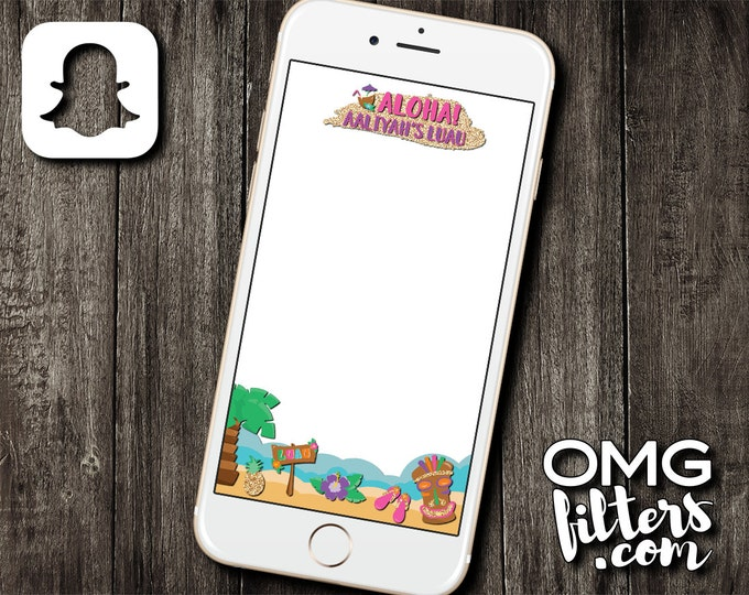 Hawaiian Luau Party - Custom Snapchat Filter - Any Event!