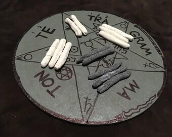Sigil Chalk - Eggshell Cascarilla Chalk for Witchcraft, Wicca, Sigil Writing, Necromancy, Hoodoo, Voodoo, Santeria, Occult