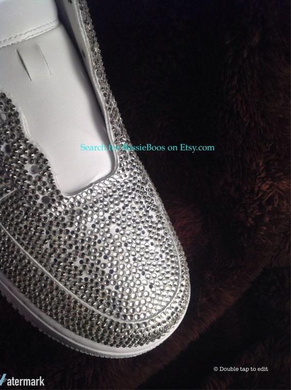 5d2015a7afc88d durable service Womens Nike AF1 Swarovski embellished Full bling no by  BessieBoos