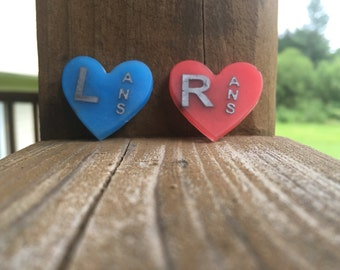 Heart shaped X-Ray Marker Set, Select Your Colors