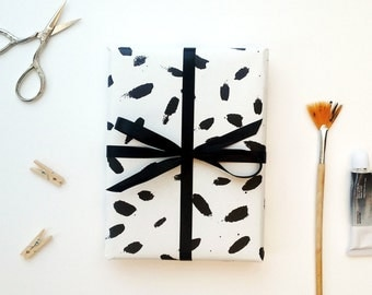 Paint Daubs gift wrapping paper - 2 folded sheets