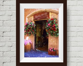 That's Amore: Digital Painting, Rome, Italy, Italian Cafe, Pizzaria, Fine Art Photography, Home Decor, Wall Art, Tuscany Photograph