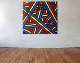 Primary Overpass - Acrylic on canvas - 90cm x 90cm