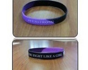 "Silicone wristband ""you fight like a girl"" #ferstrong"