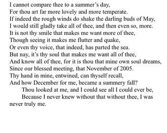 Romantic Shakespearean Sonnet