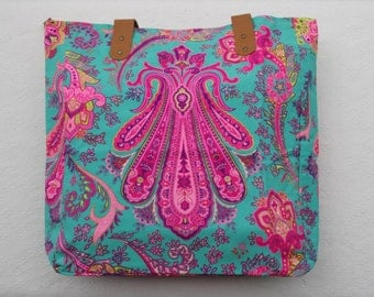Free UK Delivery&Return/Tote Bag - Turquoise and Hot Pink