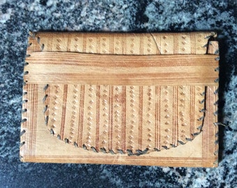 African leather wallet