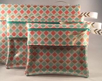 Organizational Pouch - Pastel Diamonds