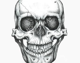 A4 Skull Print