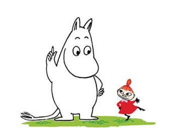 Art Print Moomin Troll and Little My