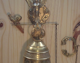 Large vintage French brass bell