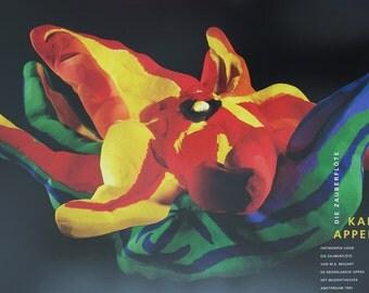 Karel Appel print - Die Zauberflöte - Mozart - exhibition poster / offset litho