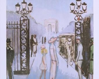 Kees van Dongen print - Port Dauphine - Paris - vintage museum poster / offset litho