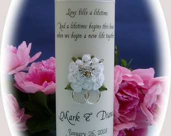 Personalised 3D XL main Unity Candle  - Wedding BRIDAL church Ceremony customised Commitment unique engagement ceremony