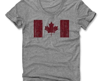 Canada Flag R Women's Scoop Neck T-Shirt (am)