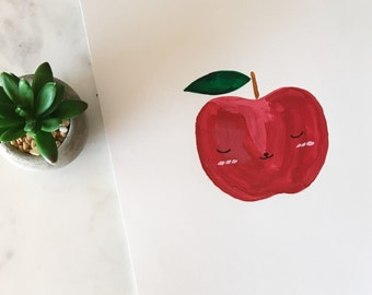 You are the apple of my eye / nursery painting